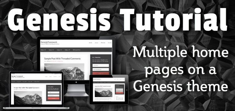 Multiple home pages on a Genesis theme
